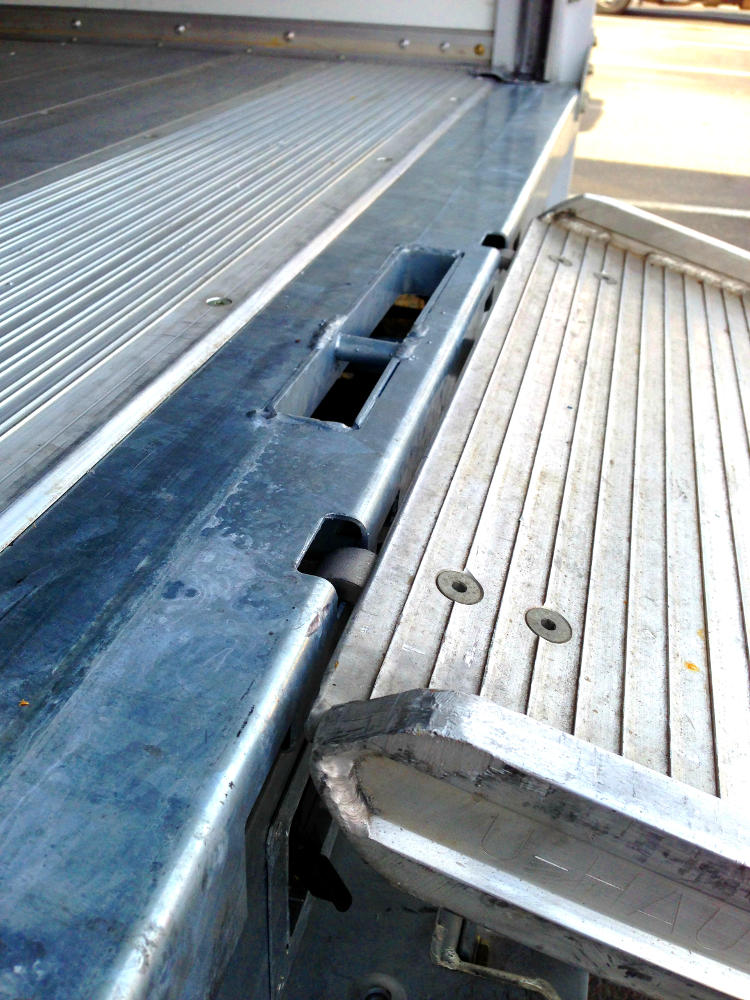 A fixed ramp on the rear of a moving van is potentially dangerous if the in use while the vehicle is moving.